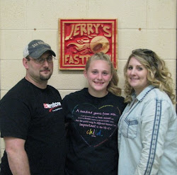 Paige Laxton and her parent
