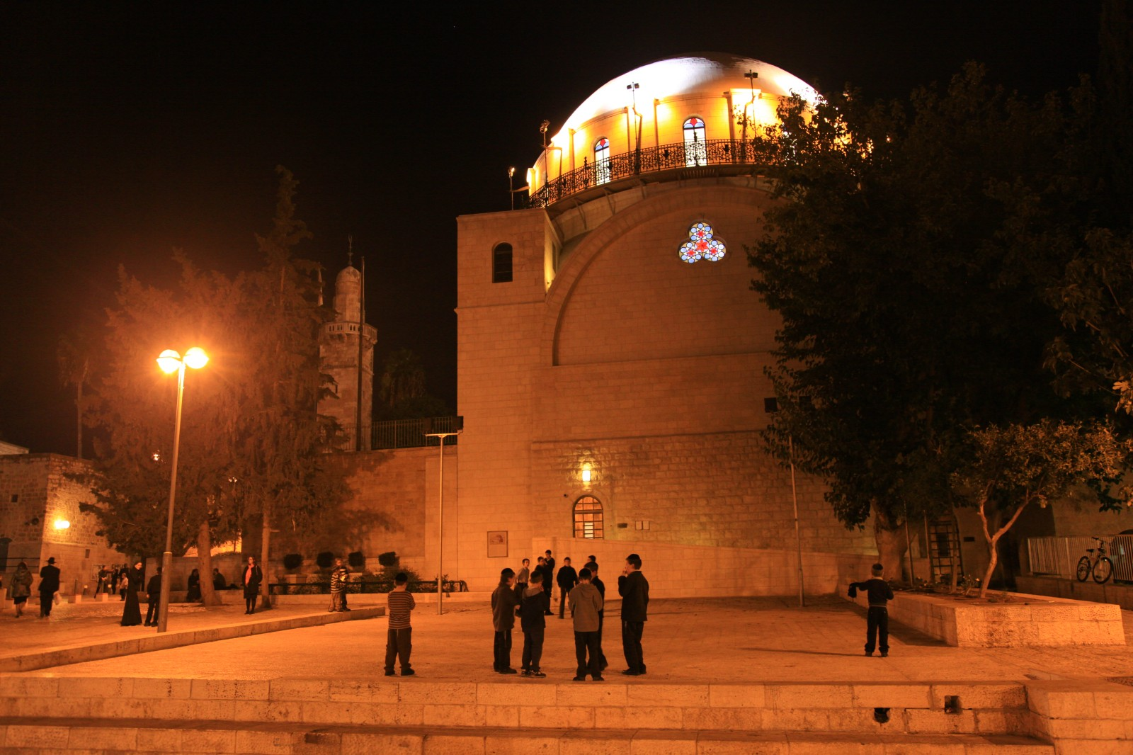 The newly built synagogue