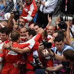 Sebastian Vettel celebrates his 2nd place with Ferrari