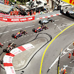 Start of Monaco Grand Prix into 1st corner