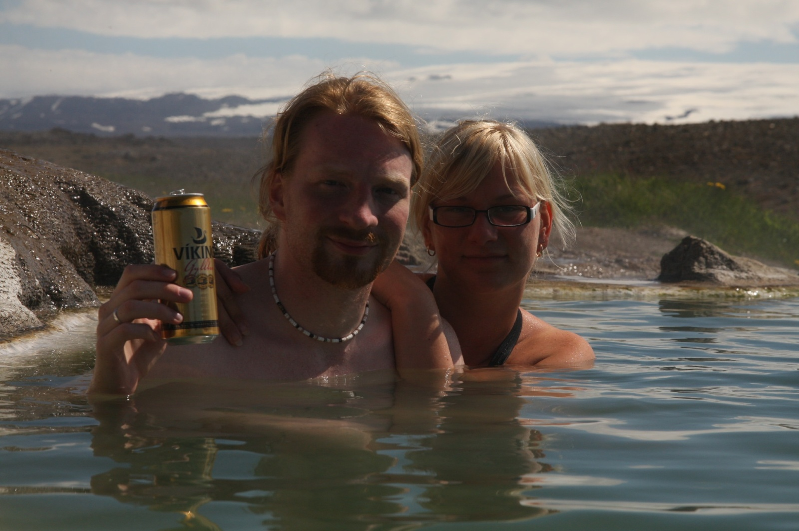 The best geothermal hot bath on Iceland (and it's free!) :-)