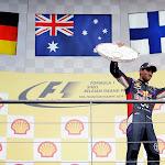 Daniel Ricciardo (AUS/ Infiniti Red Bull Racing with the trophy