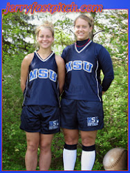 "Jennifer Sloan and Natalie Hanson The ""Triple Pitch Girls"" Jennifer Sloan is the Catcher and Natalie Hanson is the Pitcher"