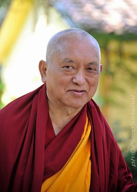 Lama Zopa Rinpoche, Istituto Lama Tzong Khapa, June 13, 2014. Photo by Sirianni.