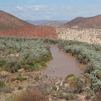 Kunene river - Angola and Namibia border at Epupa falls