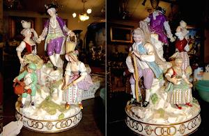 Фарфоровая скульптура.  Мейсен. 19-й век. 19/30 см. 3500 евро.
