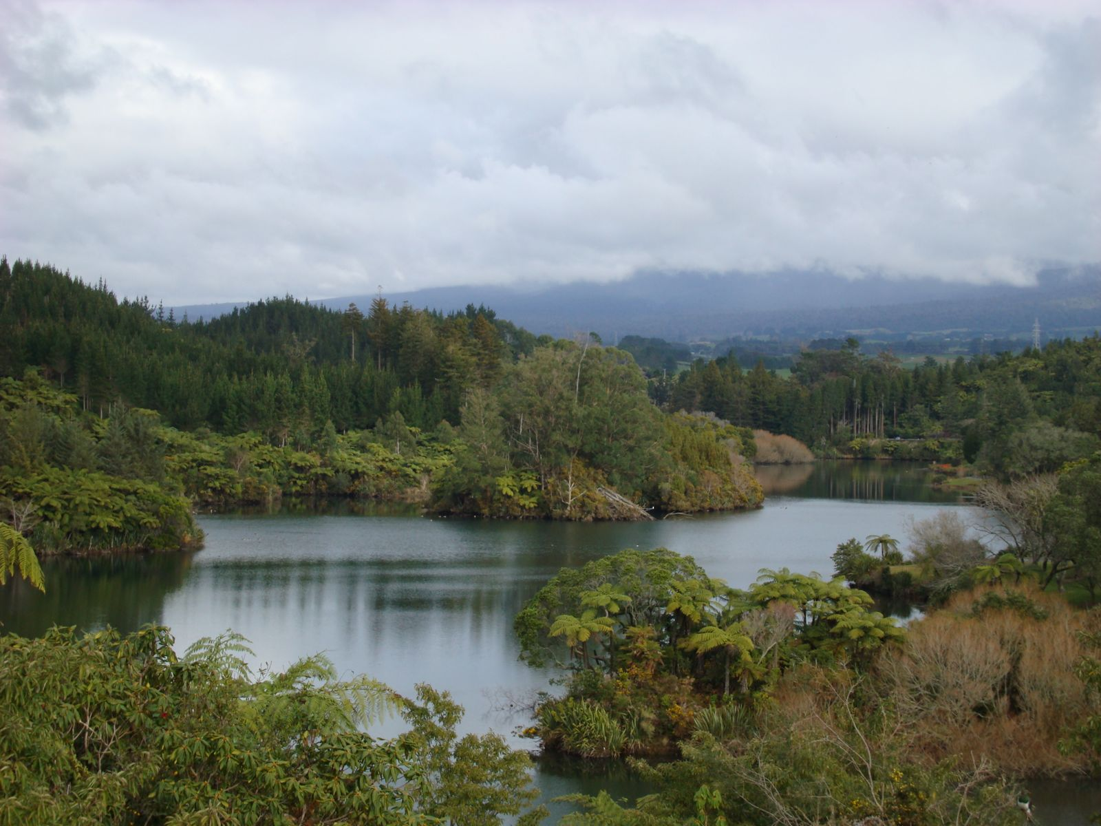 Lake Mangamahoe located just outside New Plymouth