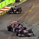 Daniil Kvyat and Jean-Eric Vergne Toro Rosso STR9
