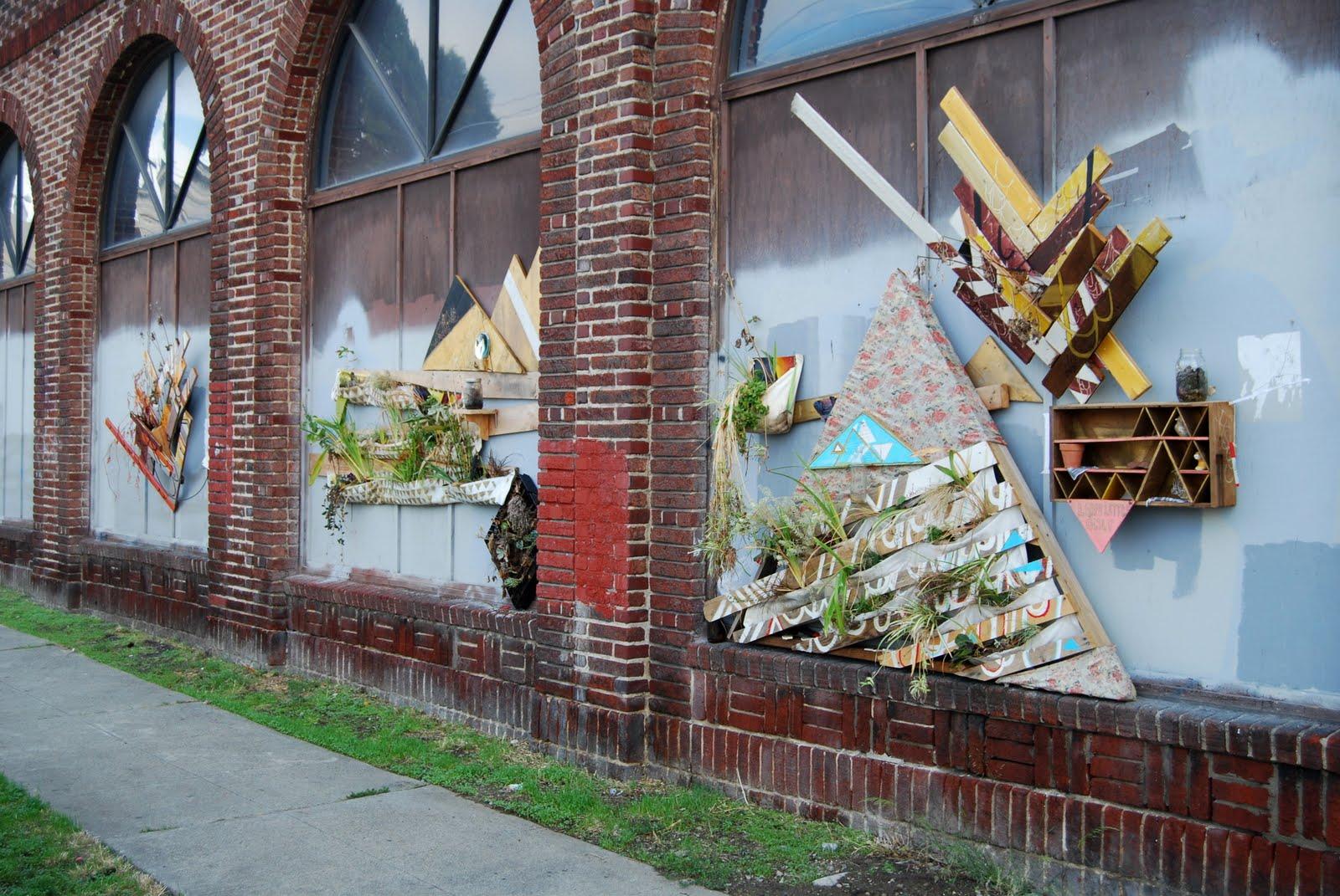 Mixed medium, varied size. Public art installation 2010.