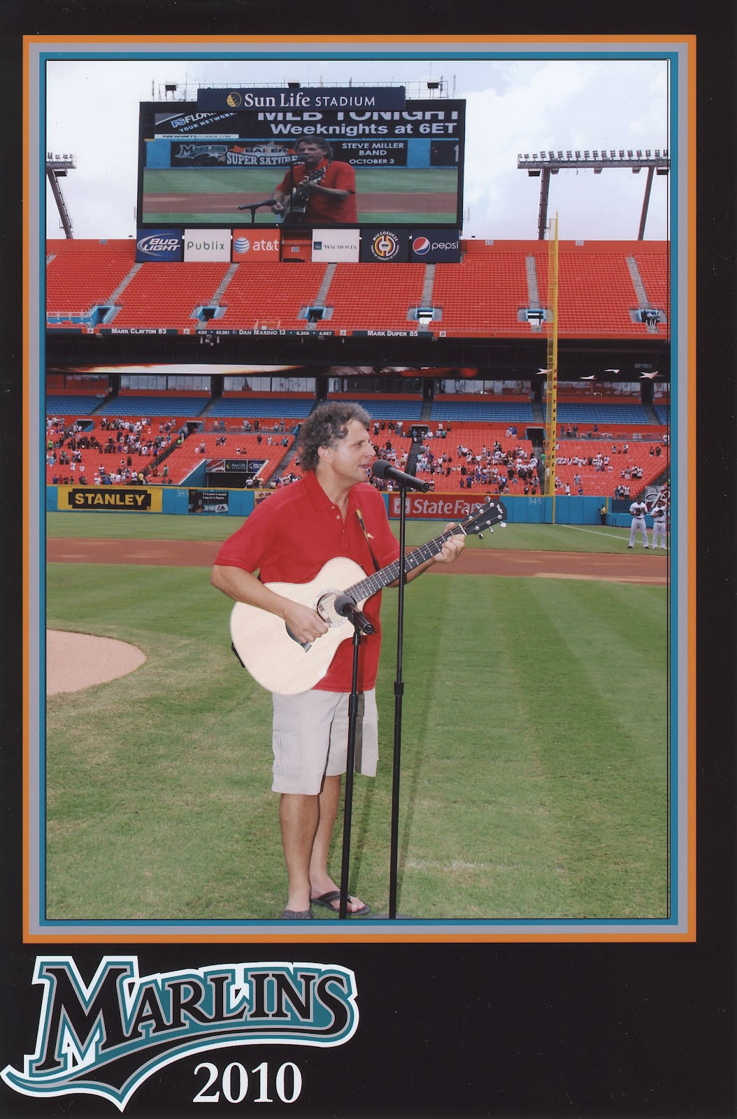 Singing the Star Spangled Banner before a Miami Marlins game