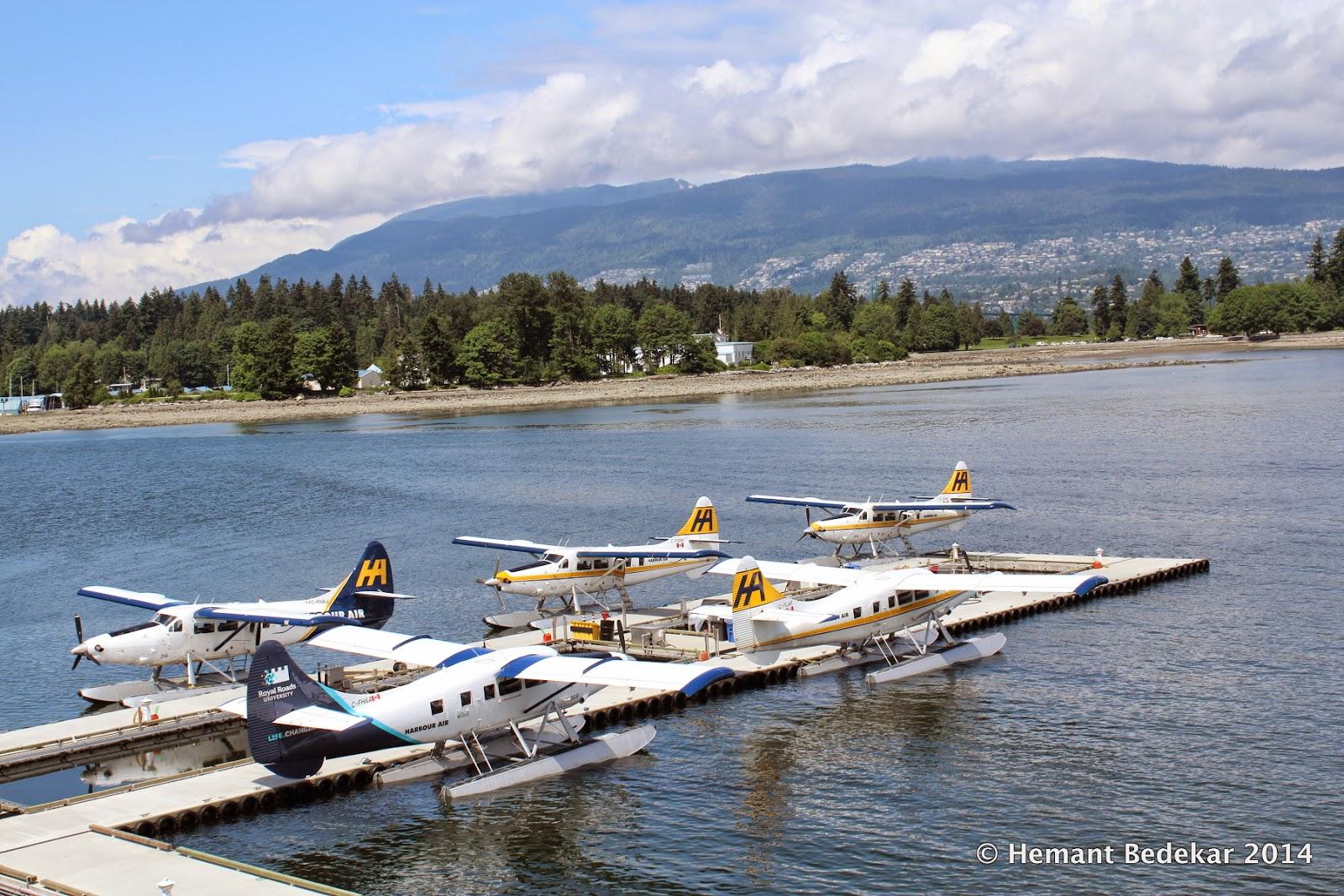 Sea planes in Coal Harbour
