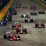 2015 Singapore GP going into 1st corner