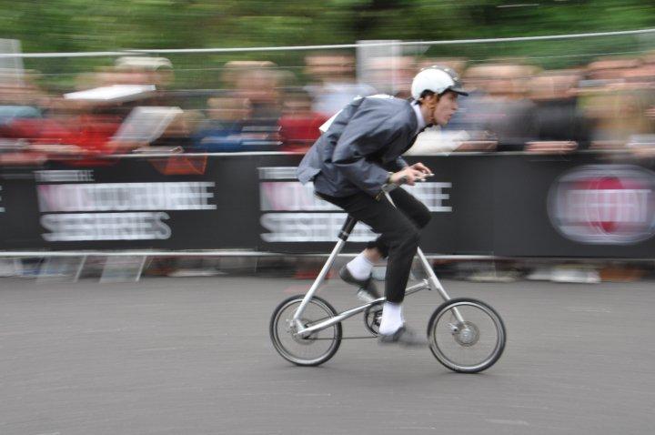 "Josh Sanders - at speed (racing at smithfield nocturne, London, StridaSX 18"" 2 speed)"