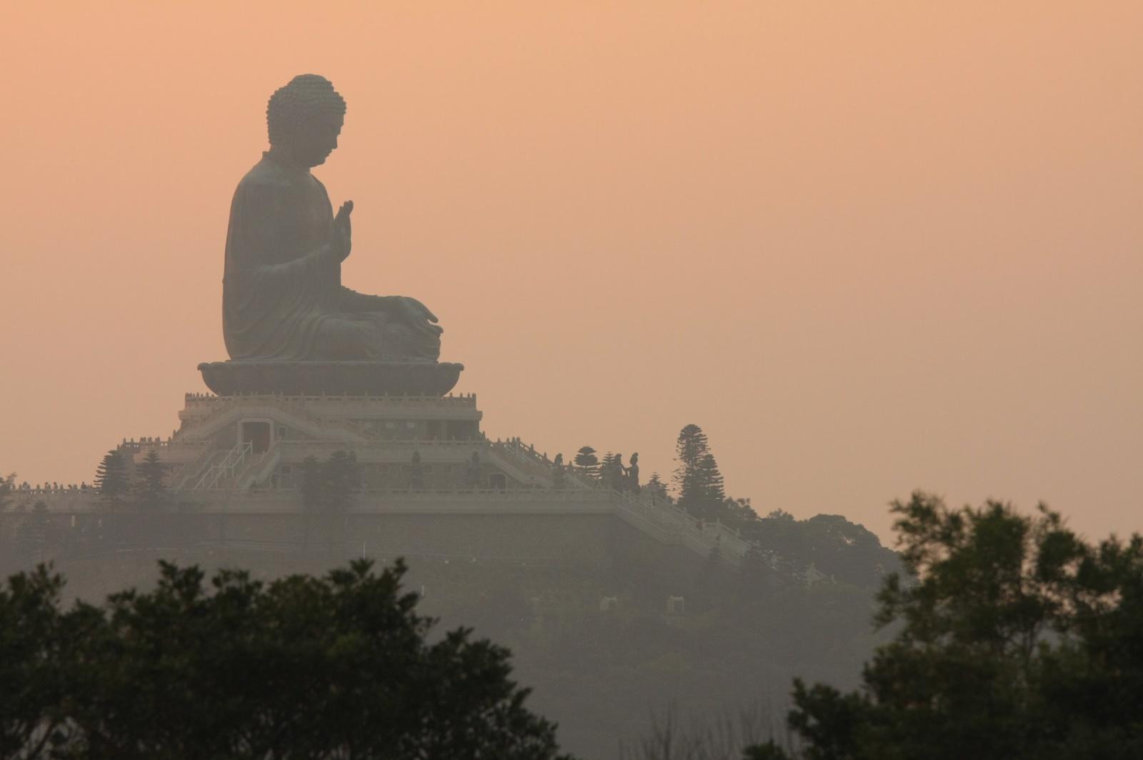 The Big Buddha from the Lantau trail