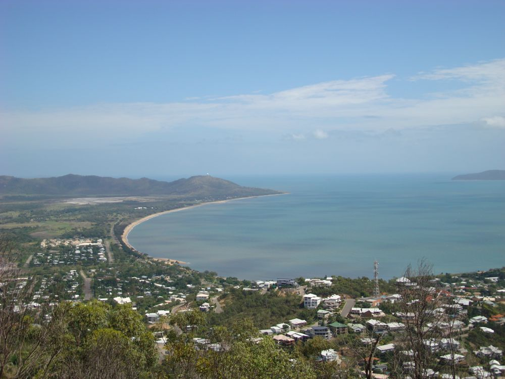 Looking north of Townsville from Castle Hill