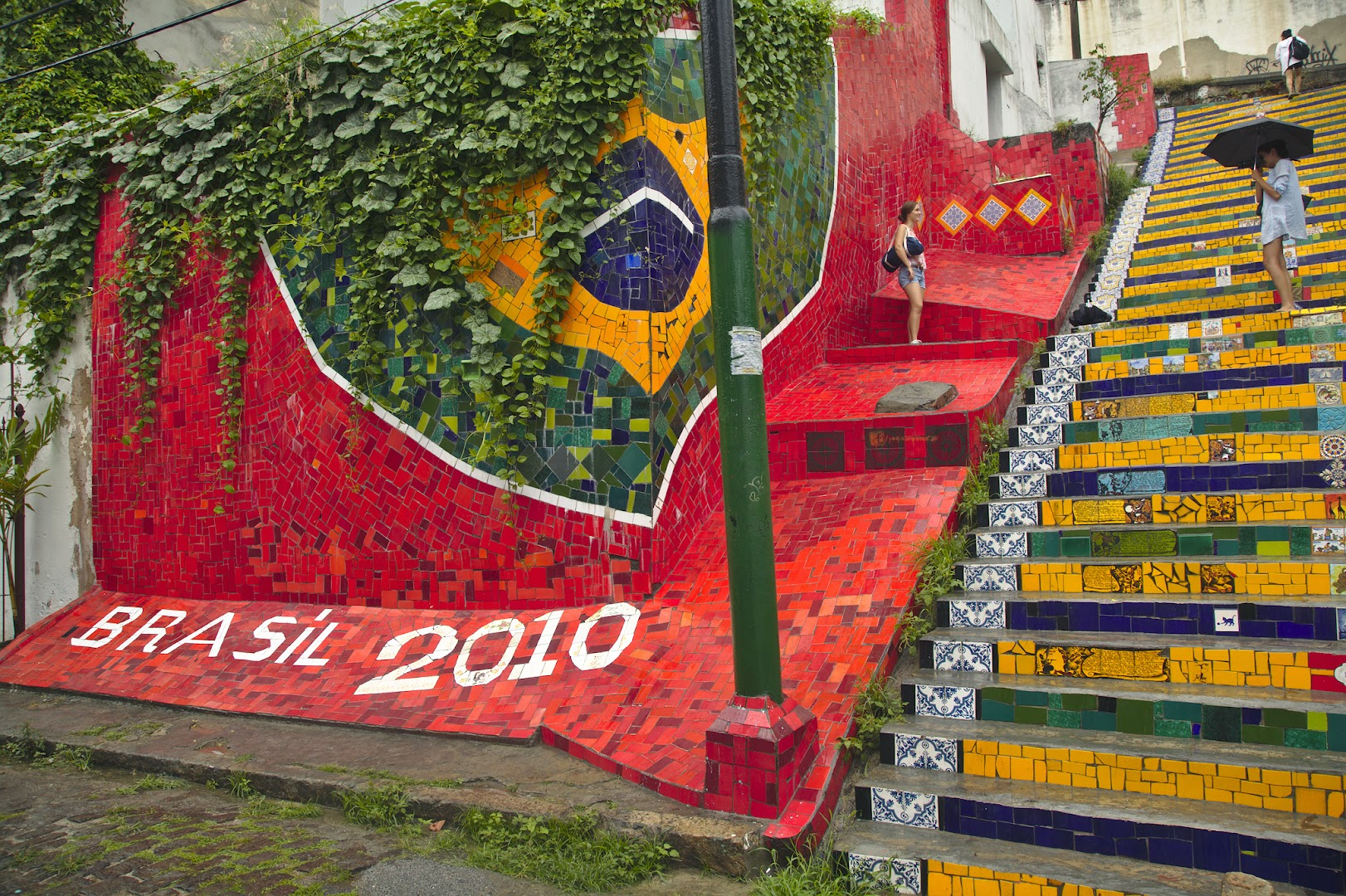 Escadaria Selaron - stairs made from tiles brought from all around the world