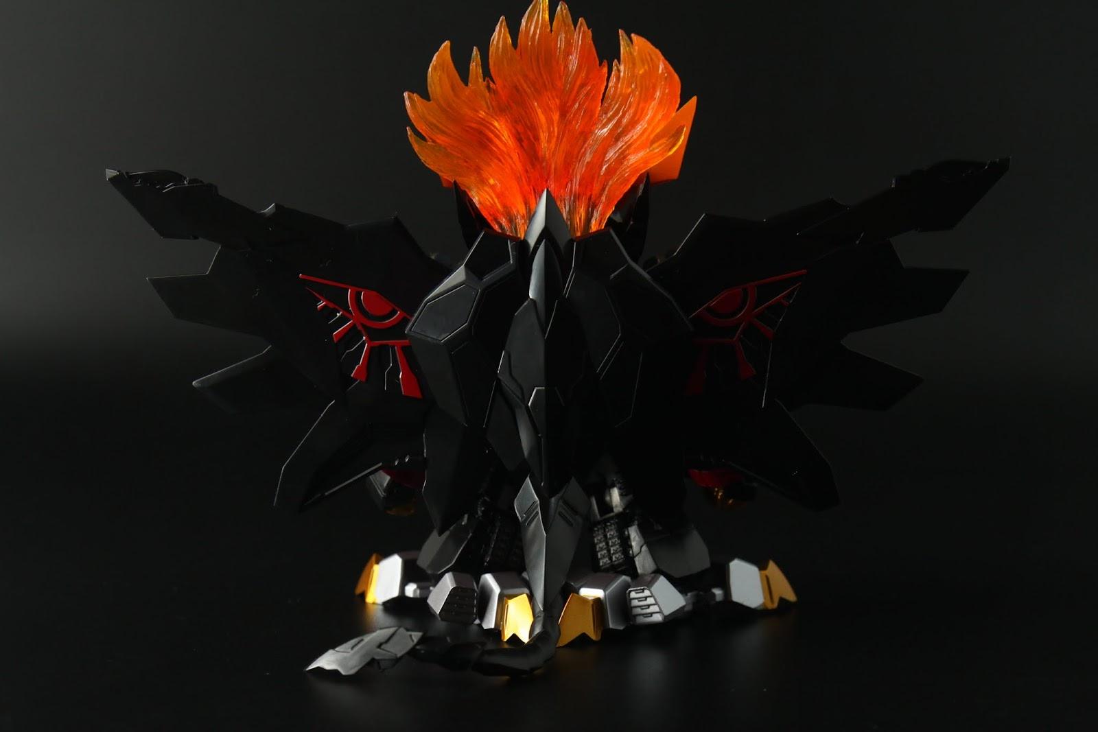 雖然破壞神之眼有塗裝,不過翅膀不能閉合覺得有點偷懶