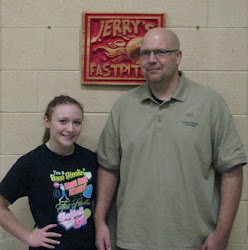 Kylie Nelson and her father Shannon from Midway, WV