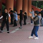 Tai Chi gathering on the street