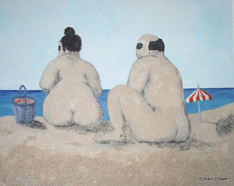 168 - Orient Bay - 2007 100 x 80 - Sable et acrylique sur toile