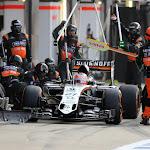 Nico Hulkenberg, Force India VJM08 pit stop