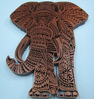 """ELLIE"" Ornate Elephant Pattern By Charles Hand original by  Ben Kwok of BIOWORKZ"