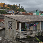 Roofs of Baracoa and El Yinque flat mountain