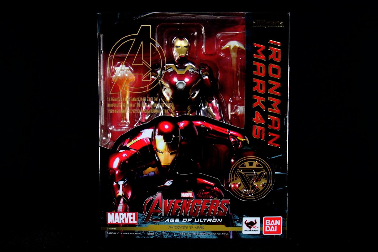 SHF跟Marvel合併風格的外盒