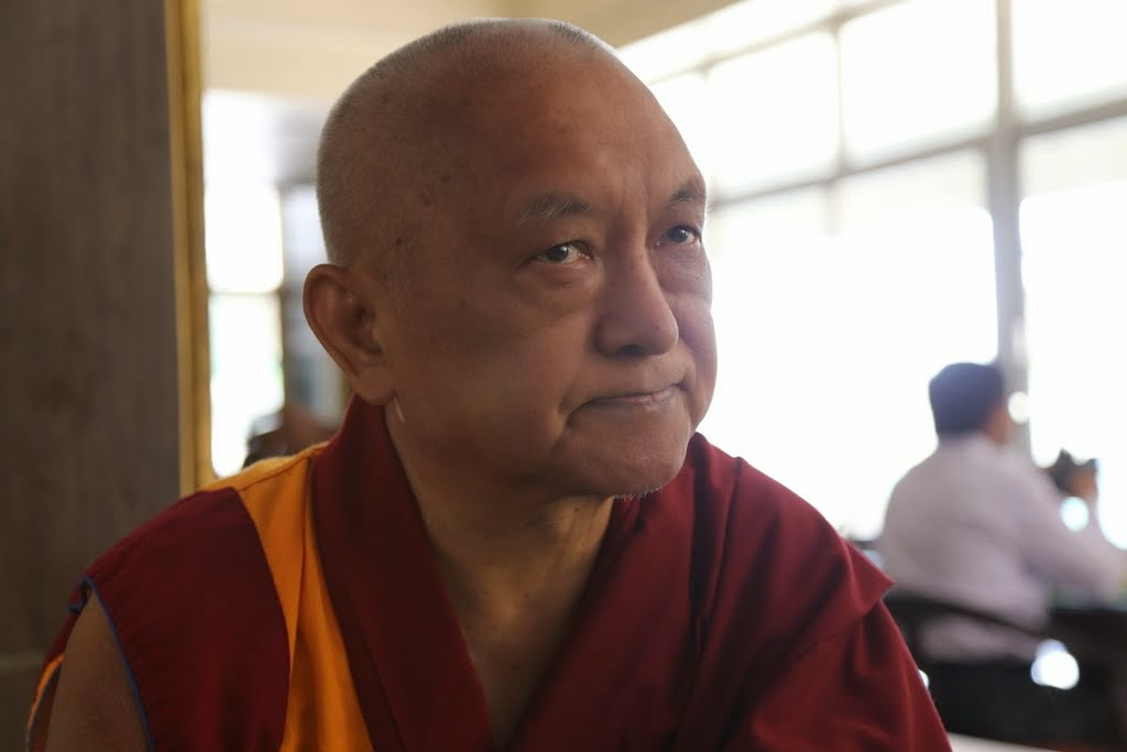 Lama Zopa Rinpoche in Bangalore, India, 2014. Photo by Thubten Kunsang.