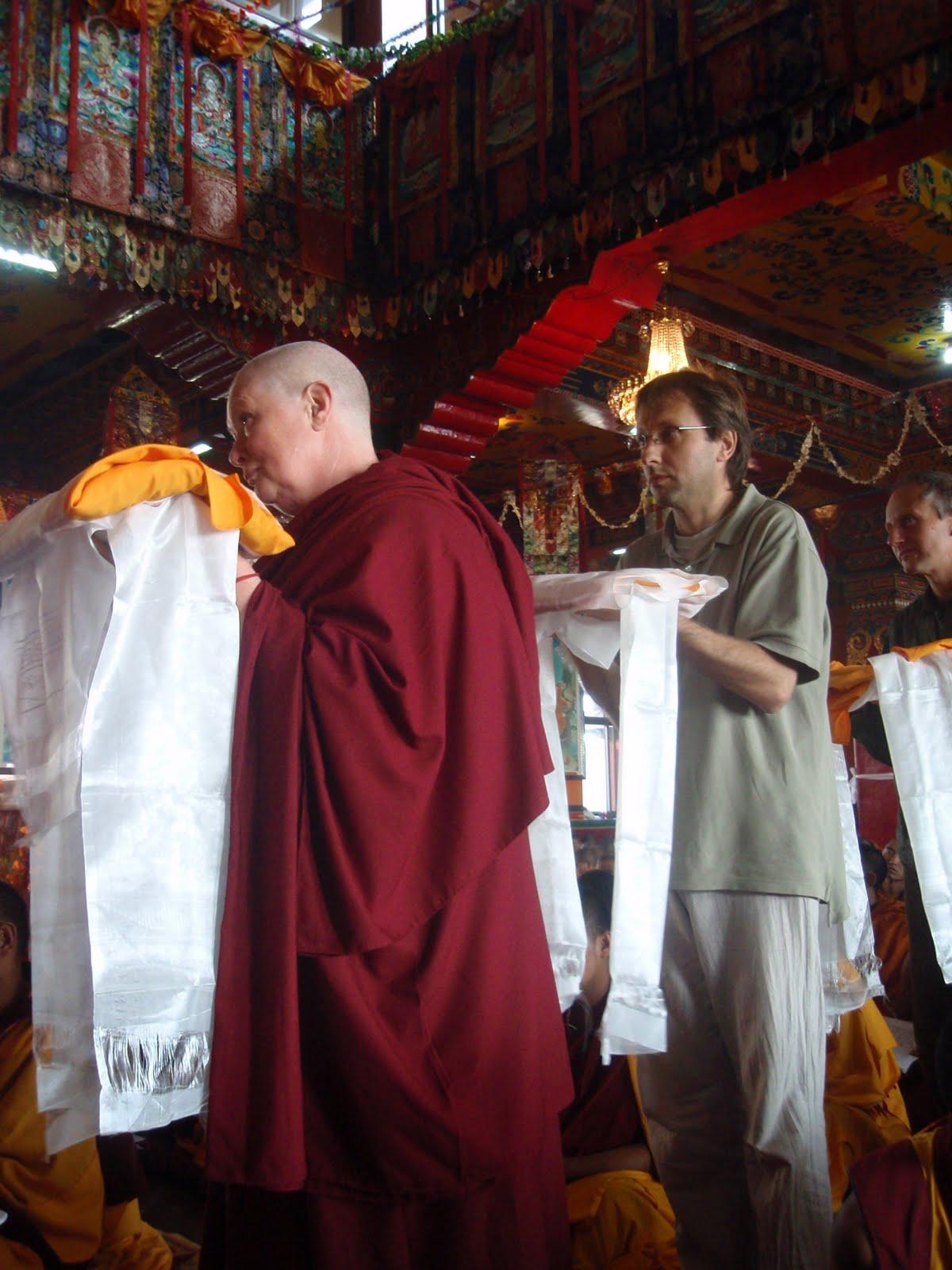 Long life puja at Kopan Monastery 2008.