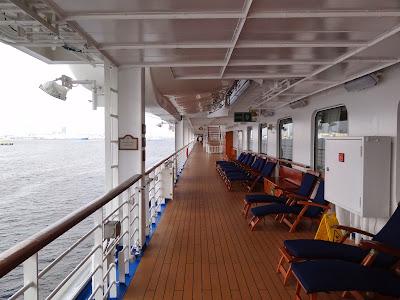 Promenade deck looking aft