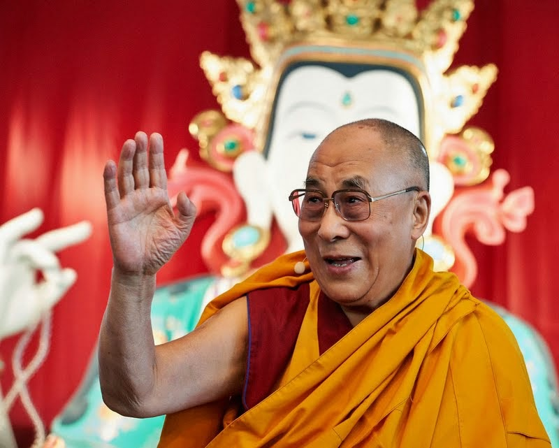 His Holiness the Dalai Lama at Istituto Lama Tzong Khapa, Italy, June 13, 2014. Photo by Olivier Adam.