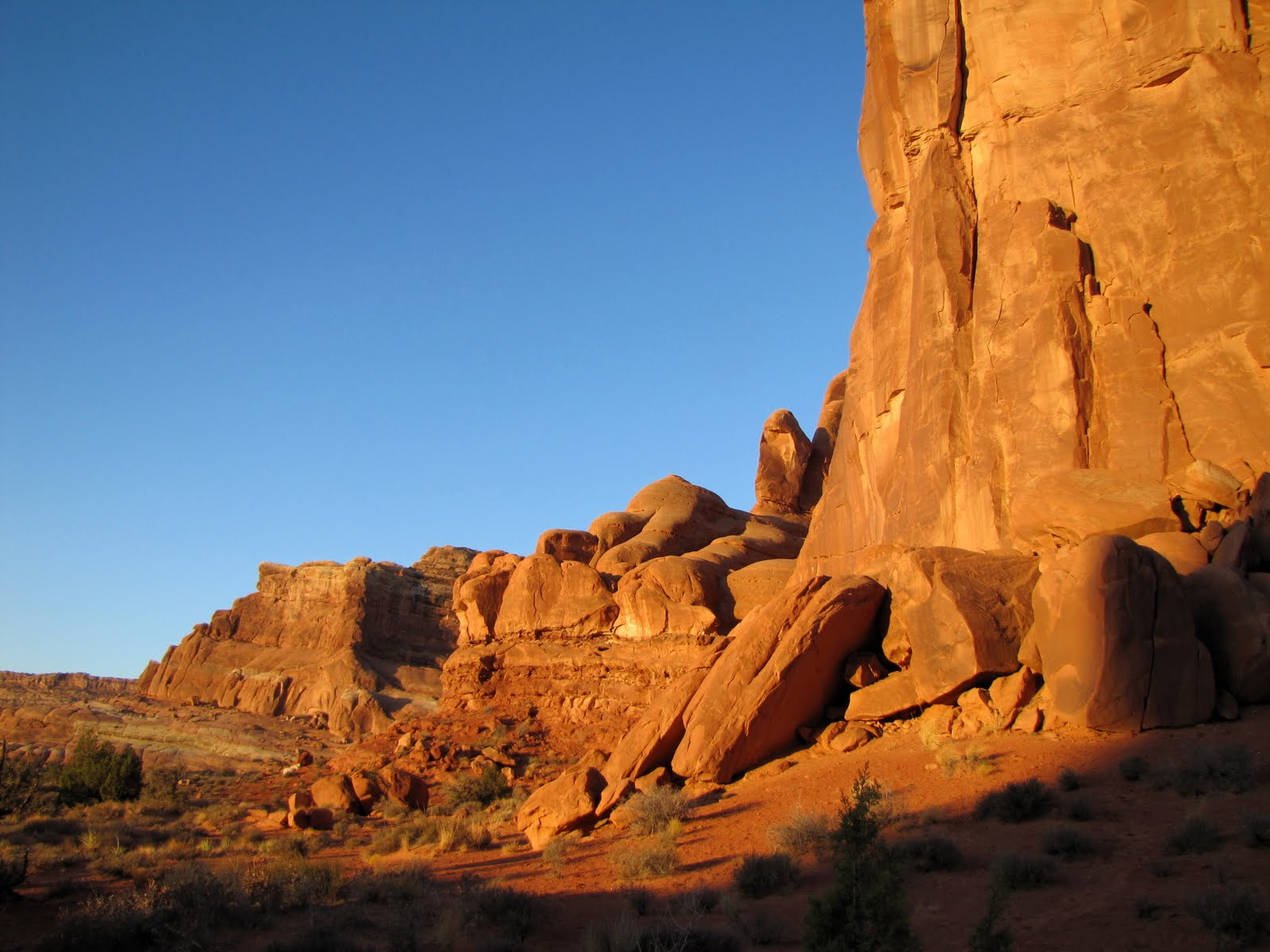 Morning Sun in Arches NP