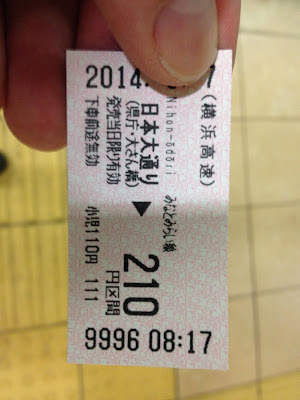 Ticket for the subway