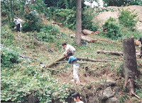 1996 - Construction of back of the Temple 7