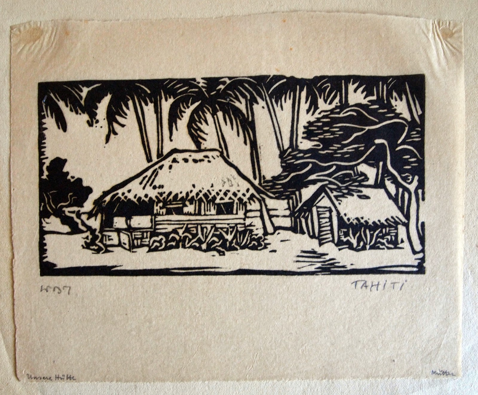 The Hut of the Artist and his Family, hand print, 1937