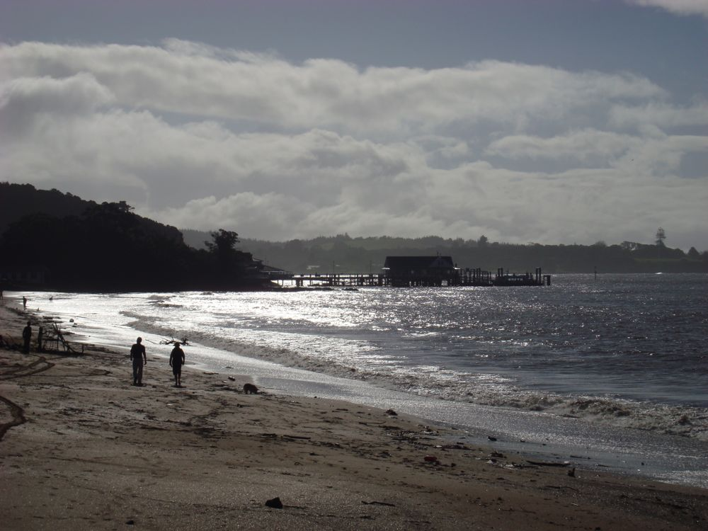 Paihia beach after the rain cleared
