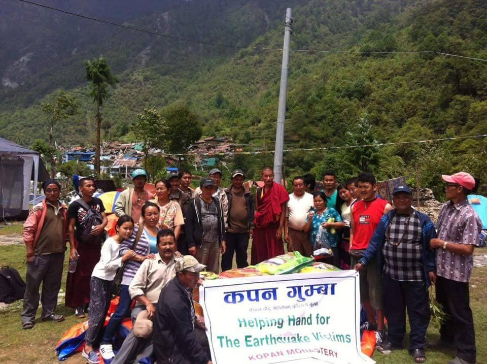 Villagers happy to receive aid from Kopan Helping Hands.