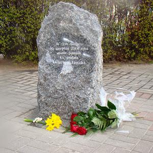 2014 rok - Uroczysta Msza św. i podpisanie aktu erekcyjnego pod pomnik Ks. Hilarego Jastaka w Gdyni