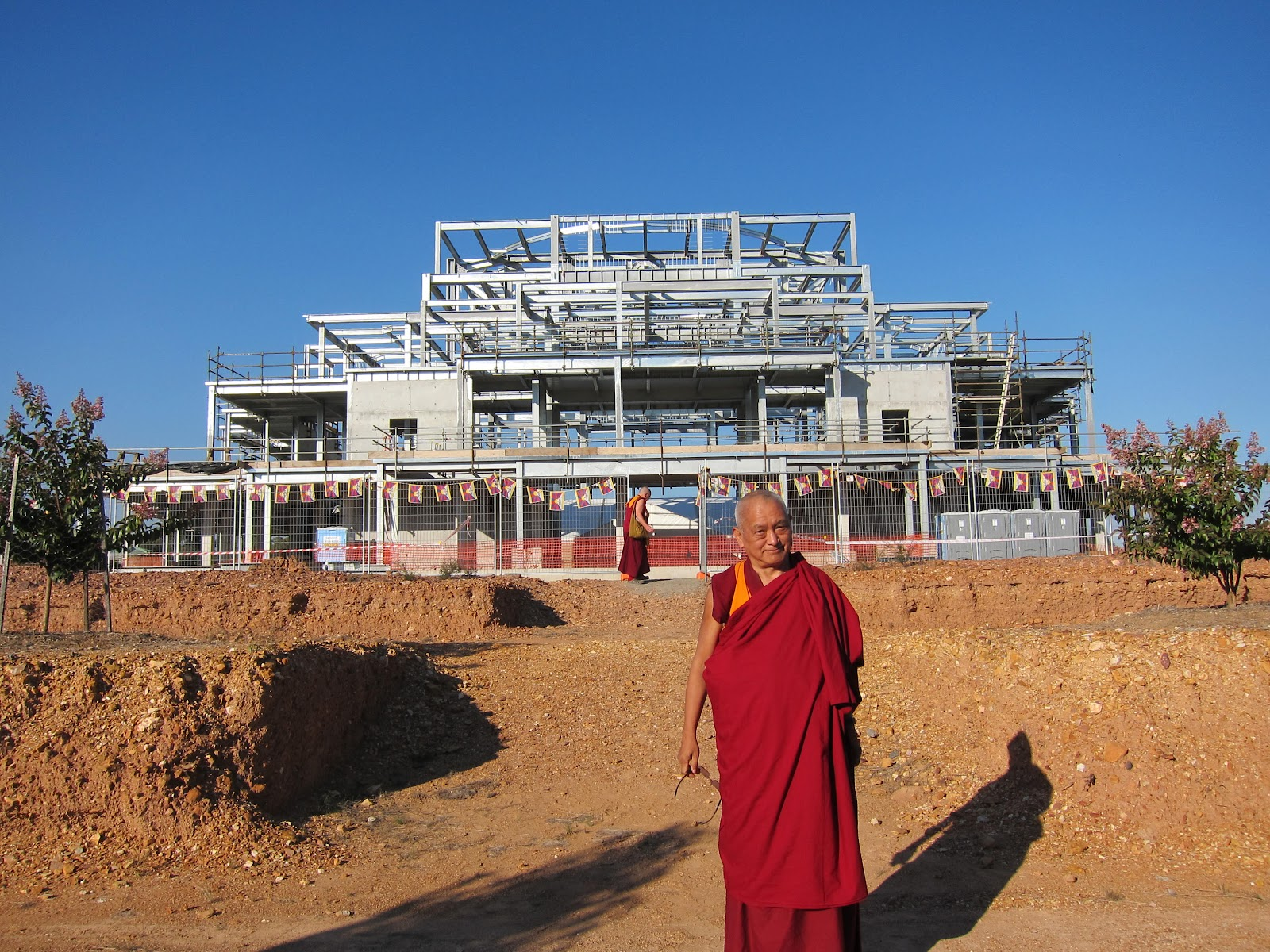 The Great Stupa of Universal Compassion being built in Bendigo, VIC Australia