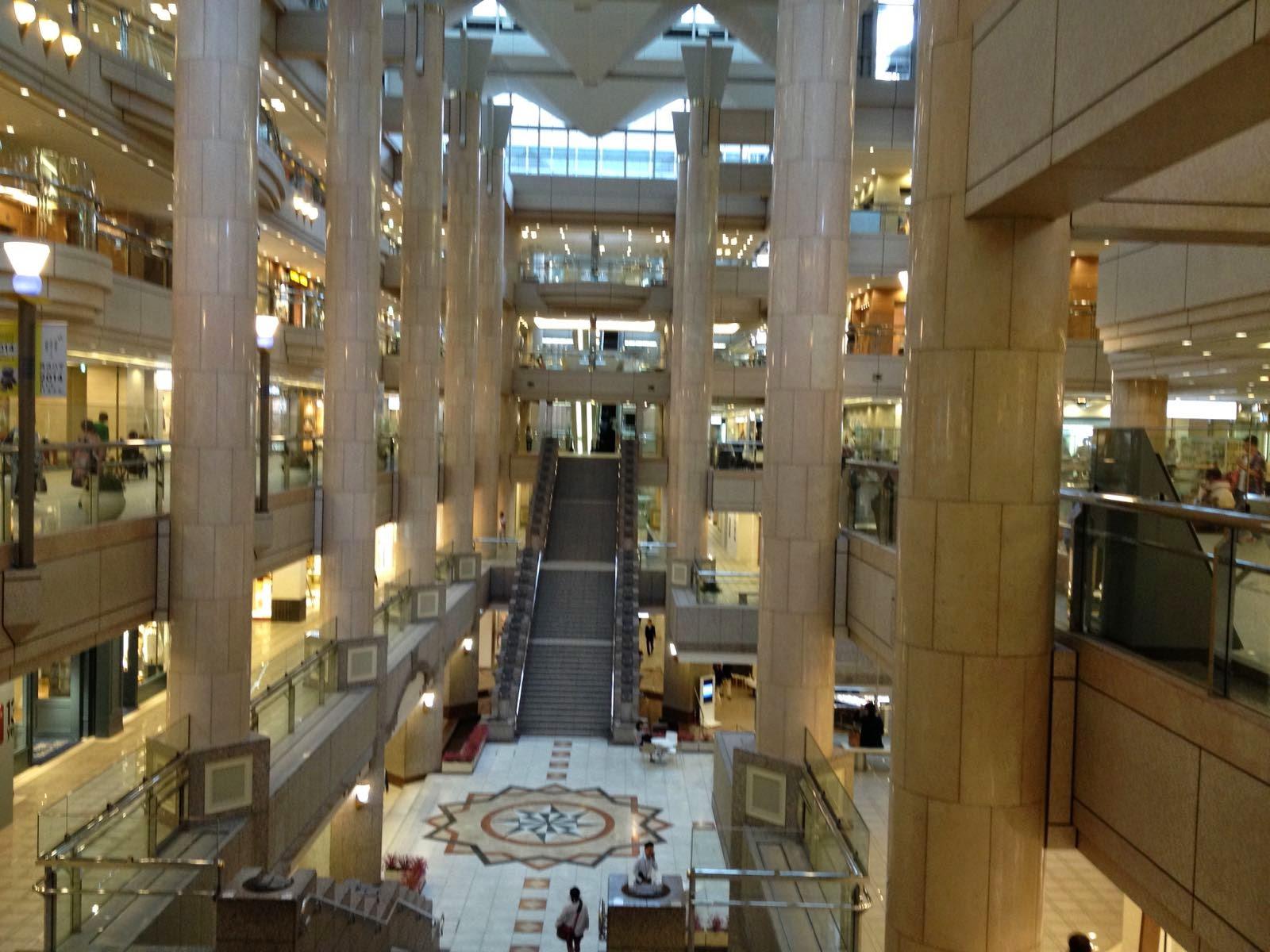The shopping inside Landmark Tower