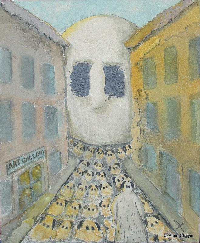 175 - Art Gallery - 2007 46 x 38 - Sable et aquarelle sur toile