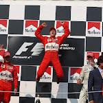 2001 Hungarian F1 GP podium