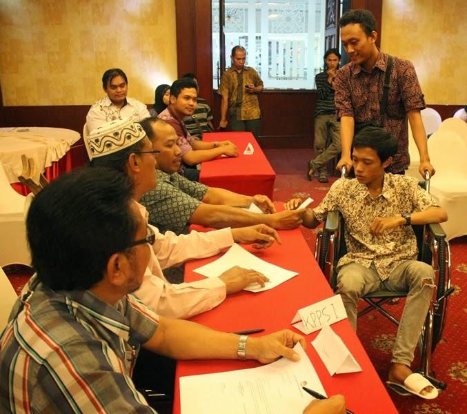 Simulation Election Voting at Observer Workshop Central Java 1-2 July 2014 - 2