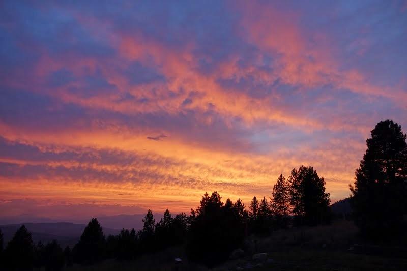 Sunset at Buddha Amitabha Pure Land, Washington, US, August 2014. Photo by Ven. Roger Kunsang.