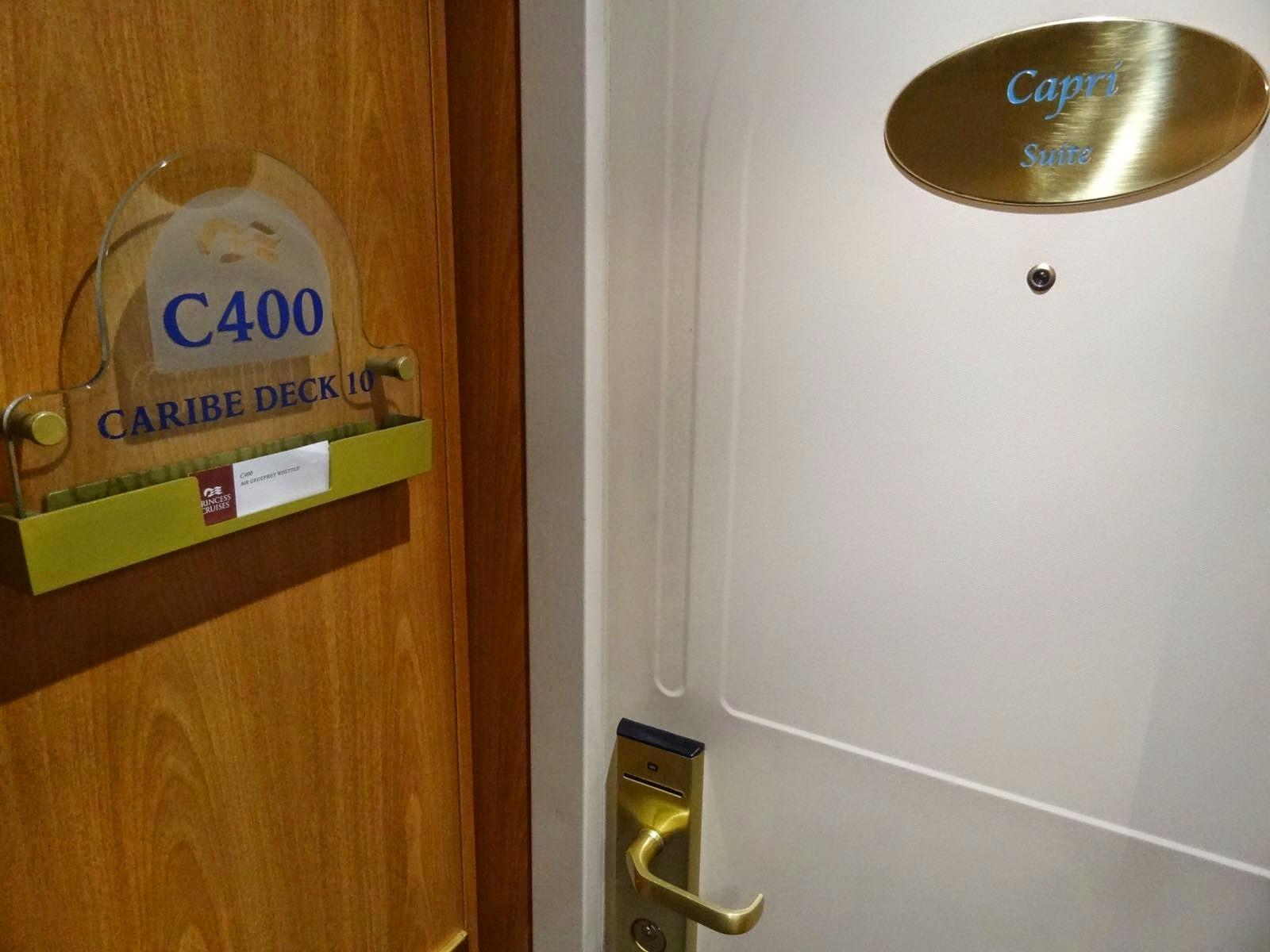 """The door to my """"Capri Suite"""""""