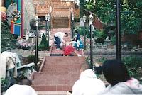 1997 - Building Uphill Stairway to Niet Ban shrine 5