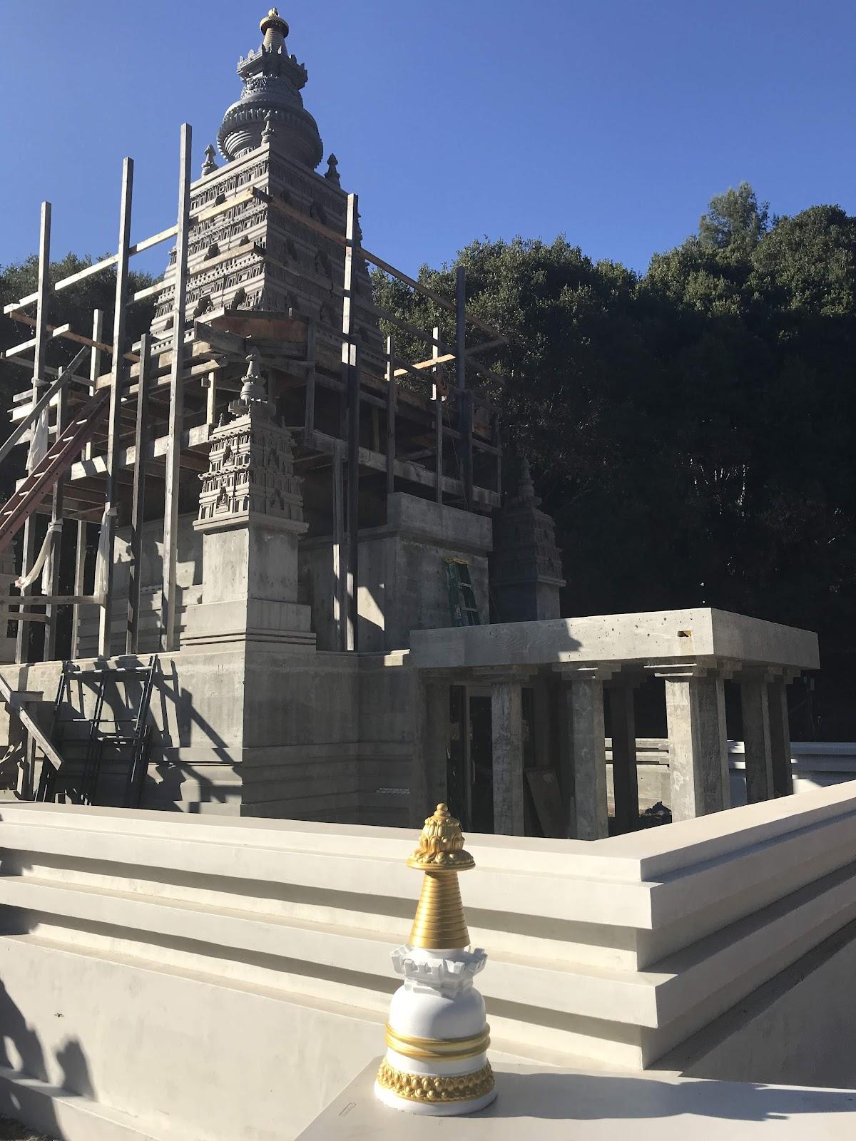 Progress on the Mahabodhi Stupa and Land of Medicine Buddha, Soquel, CA, US.