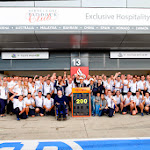 Felipe Massa celebrates his 200th Grand Prix with his current team