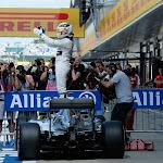 Lewis Hamilton celebration after winning the British F1 GP